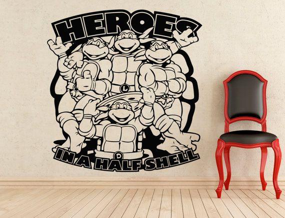 Turtles Teenage Mutant Ninja Stickers Wall Vinyl Decals Home Interior Murals Art Decoration (109z)