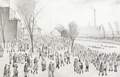 LS Lowry pencil drawing brings new auction record