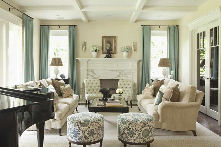 Living Room With Ottoman And Cream Sofas : Decorate Your Room With Cream Sofa