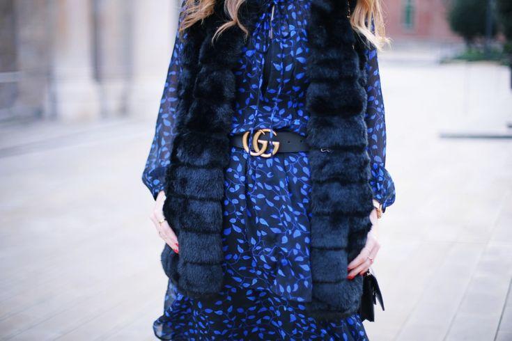 Vestido volantes con chaleco. A trendy life. #casual #atloutfits #look #volantes #chaleco #boho #cinturón #gucci #outfit #fashionblogger #atrendylife www.atrendylifestyle.com