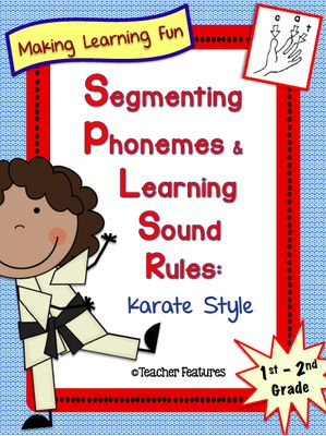 Segmenting Phonemes and Learning Sound Rules: Karate Style from Teacher Features on TeachersNotebook.com - (71 pages) - This pack is perfect for first and second graders who are learning letter sounds for the first time or learners who struggle with spelling. (71 pages)