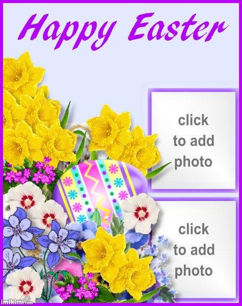 happy easter 2 frames - Easter Photo Frames