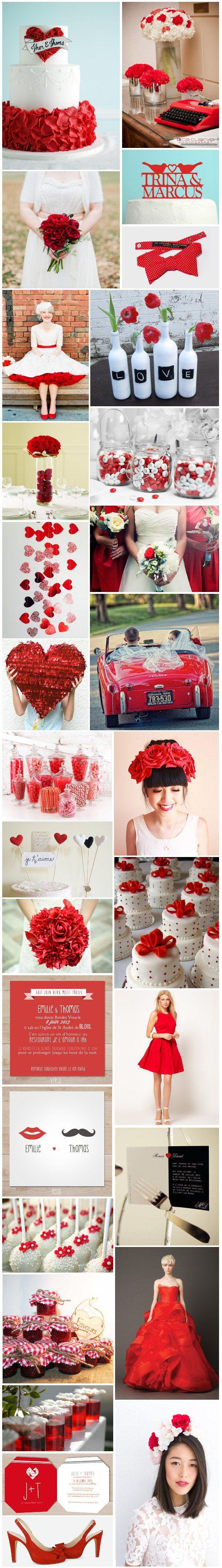 [Inspiration] Mariage rouge
