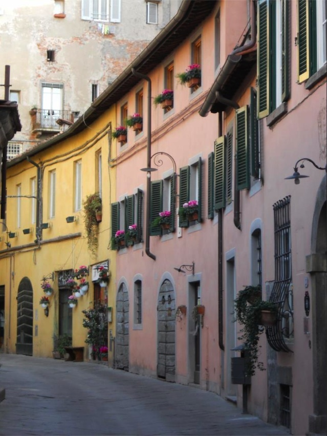 a beautiful street in Lucca