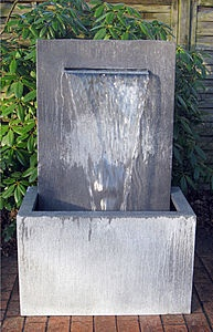 zinc water fountain - an option if we need more garden space