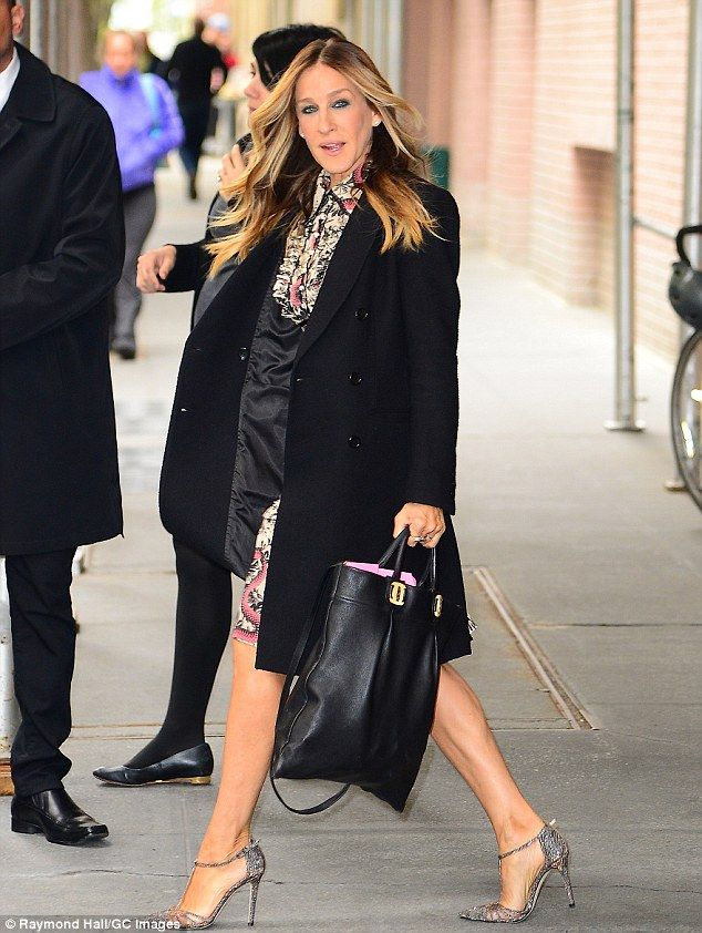 Whirlwind promotions: Sarah Jessica Parker dolled up for interviews at Z100 radio station, ABC Studios, and NBC Studios in Manhattan on Wednesday