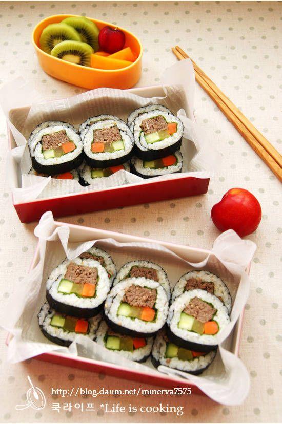 말만 들어도 군침도는 떡갈비김밥도시락 – 레시피   Daum 요리