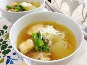 冷たい冬瓜と鶏のとろとろ煮物