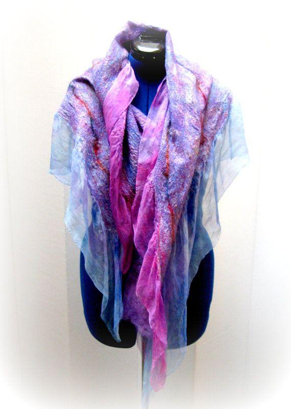Hey, I found this really awesome Etsy listing at https://www.etsy.com/listing/73811677/silk-felt-shawl-scarf-sheer-wrap-soft-as