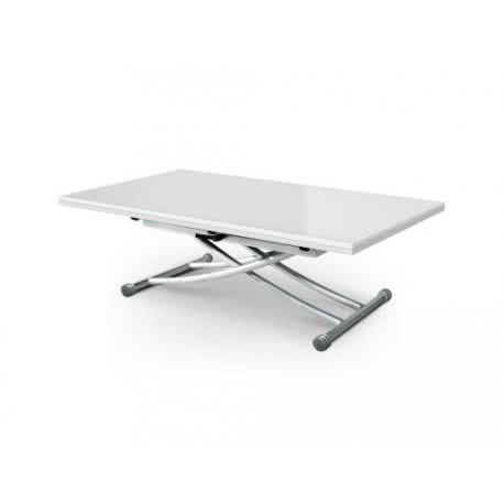Mesa elevable y extensible CarreraXL, blanco lacada