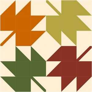 """""""maple-leaves"""" free quilt block tutorial - Quilting Gallery"""