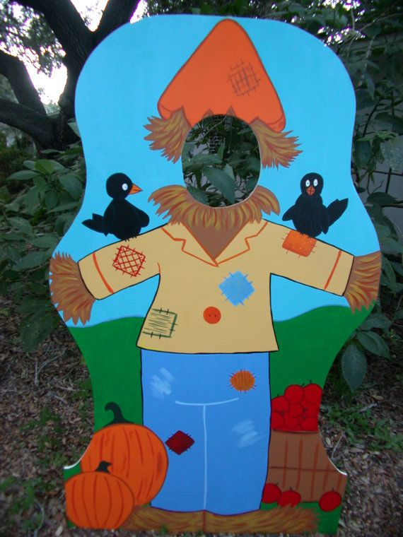 Harvest Party Themed Photo Prop - Scarecrow - in a Pumpkin Patch - Event and Party Decoration