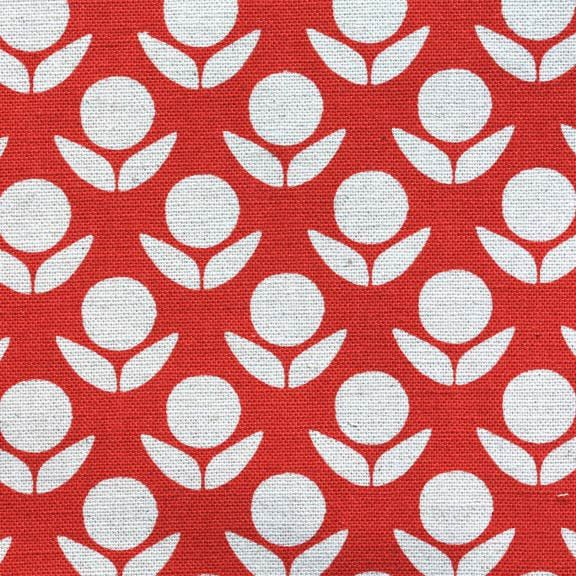 Stamped Flowers Red