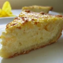 "Ricotta Pie (Old Italian Recipe); Allrecipes.com; ""This is an old Italian recipe for a pie with a sweet crust--just like from the old country. My in-laws are Italian and they say that this is the best pie. It is always requested for Christmas. Mini chocolate bits and lemon rind can be mixed into the batter."" — Misty"