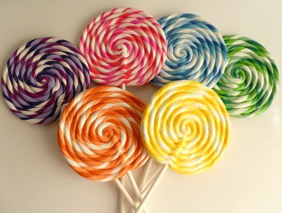 Great MEDIUM Big Carnival Candy Shoppe Clay Fake Swirl Lollipop Decoration Photo  Prop On Etsy, $7.00 Nice Ideas