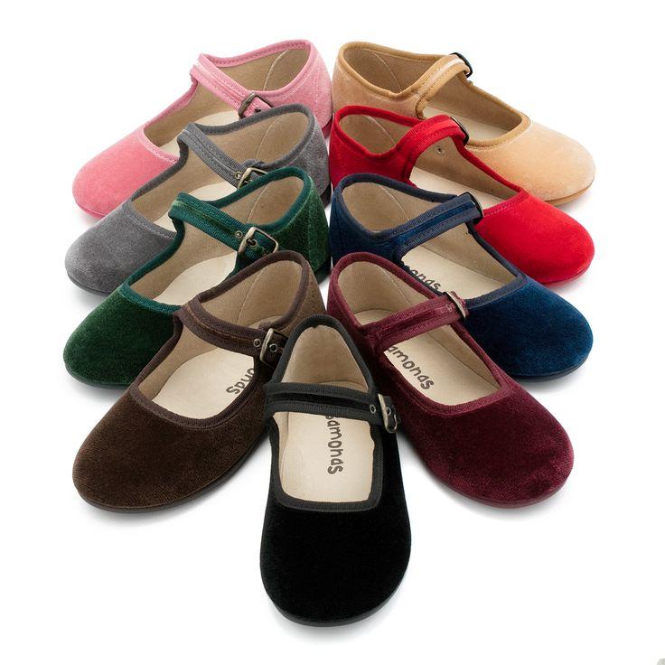 Chaussures Fille en velours avec fermeture à boucle