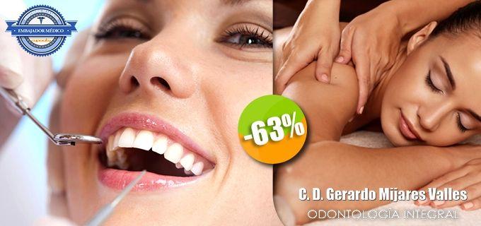 Dr. Gerardo Mijares Valles - $450 en lugar de $1,200 por 1 Limpieza Dental con Ultrasonido y Pasta Profiláctica + 1 Masaje Terapéutico de 60 Minutos. Click: CupoCity.com