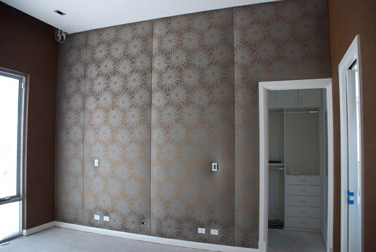 35 best images about upholstered walls on pinterest wall for Padded wall wallpaper