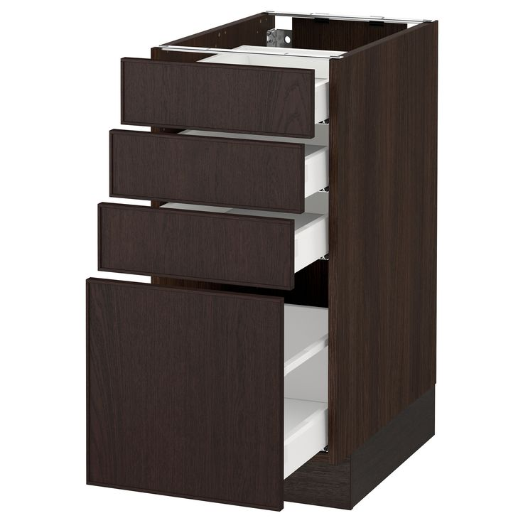Ikea Kitchen Wood Cabinets: SEKTION Wood Effect Brown Base Cabinet With 4