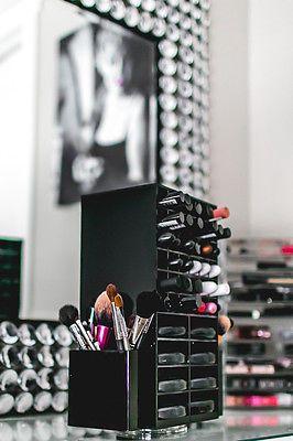 Hilado de acrílico Maquillaje Organizador titular | Cosméticos Labial & compacto en torre