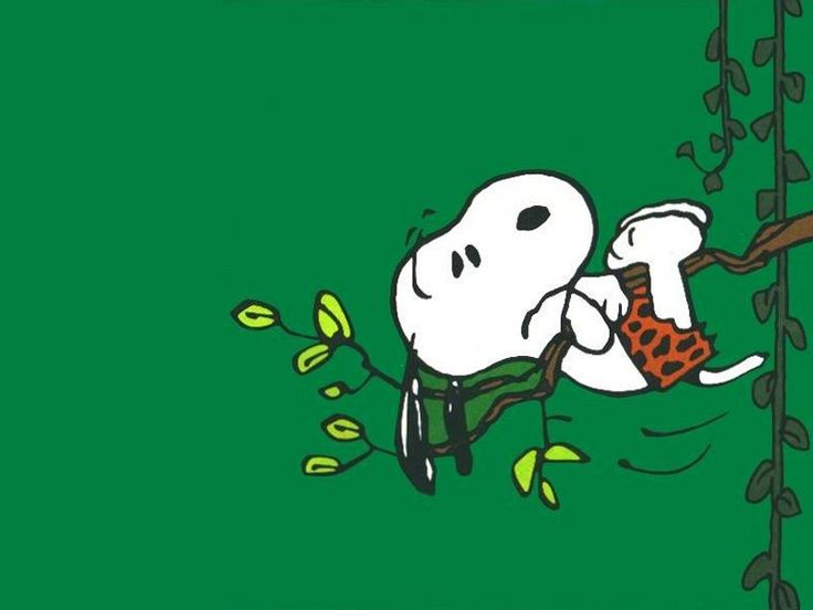 Tarzan Snoopy - need a little practice with the vine?