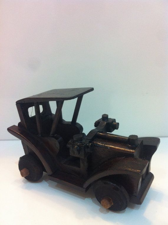 Decorative Wooden Vintage Car  Handmade Vintage by MrGeppettoys