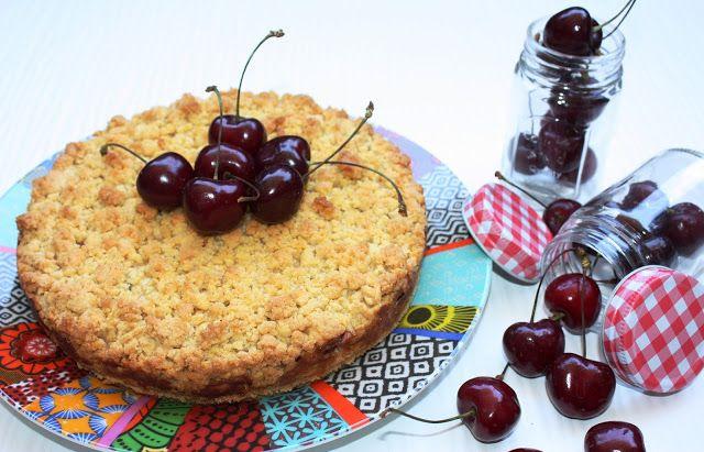 Frittomisto: cucina ed emozioni: Crostata sbriciolata alla ricotta e ciliegie di Vignola