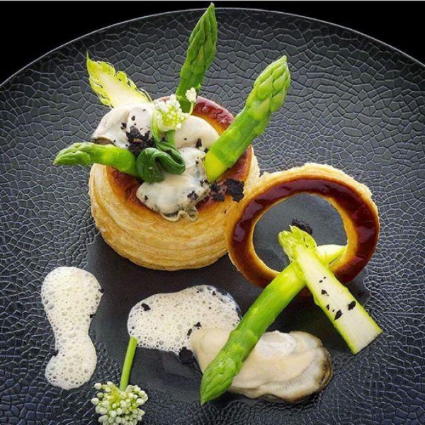 باي الدجاج مع الأسبرغس Chicken pie with spinach