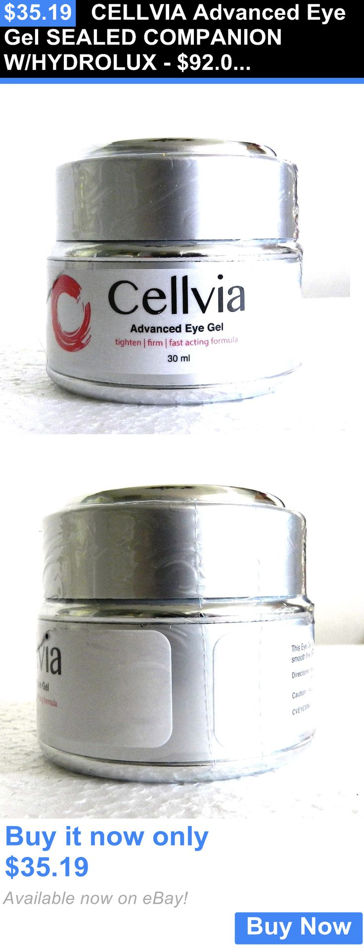 Lip Plumper: Cellvia Advanced Eye Gel Sealed Companion W/Hydrolux - $92.00 Made In Usa BUY IT NOW ONLY: $35.19