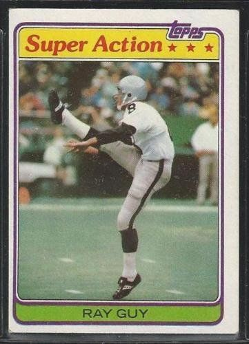 1981 TOPPS 186 - OAKLAND RAIDERS - RAY GUY - SUPER ACTION CARD - HALL OF FAME -- You can find more details by visiting the image link.