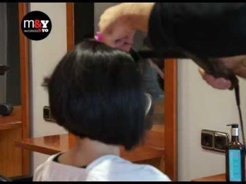 COMO SE CORTA UNA MELENA INCLINADA - How to Style a Bob Haircut - YouTube