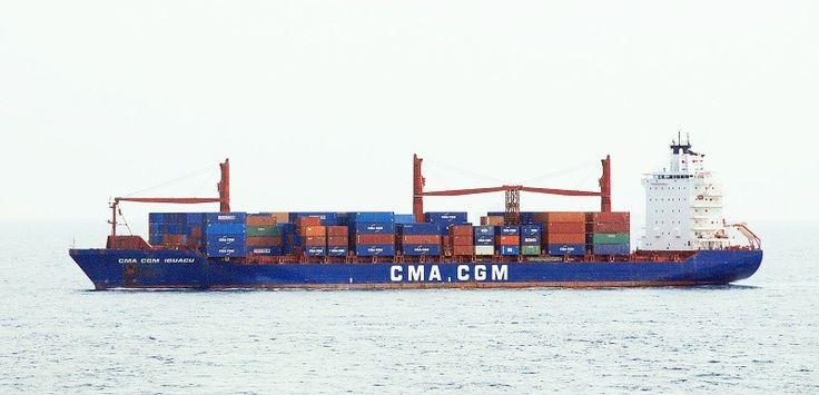 """Buque: """"CMA CGM IGUACU"""" (Primer nombre: RIO ADOUR). Año de contrucción: 2006. Tipo: Portacontenedores. Propietario: MPC steamship GmbH (Alemania). Operador: CMA CGM - Marsella (Francia). Dimensiones: Eslora 214 m. Manga 30 m. Calado 11,4 m. Carga (DWT): 34.347 Tm. Capacidad máxima contenedores TEU: 2.492. Contenedores frigoríficos: 320. Motor: MAN-B&W - tipo: 7RTA72-UB. Potencia: 21.650 Kw. Velocidad máxima: 22 nudos. Distintivo: 9HA3826 . IMO: 9344552. Bandera: Liberia."""