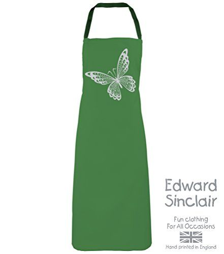 BUTTERFLY DESIGN' Emerald Apron with Silver Sparkling Glitter print Edward Sinclair http://www.amazon.co.uk/dp/B00UAY5IGC/ref=cm_sw_r_pi_dp_lWSgvb0VFX0EC
