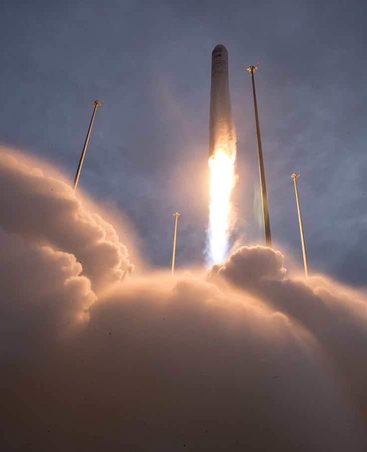 Liftoff! Orbital Antares Rocket Launches From Wallops Flight Facility Follow @GalaxyCase if you love Image of the day by NASA #imageoftheday