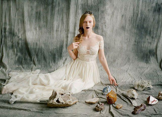 Необычный образ невесты: лесные эльфы, невеста с драгоценными камнями