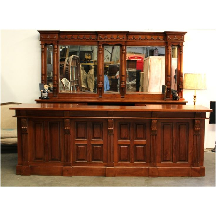 Mahogany Victorian Front & Back Bar Long Furniture Antique Replica Sale  Home Man Cave - 12 Best Full Size Taverns / Pub Bar Furniture Images On Pinterest