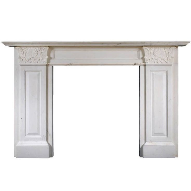 Statuary Regency Marble Fireplace in the Manner of Thomas Hope
