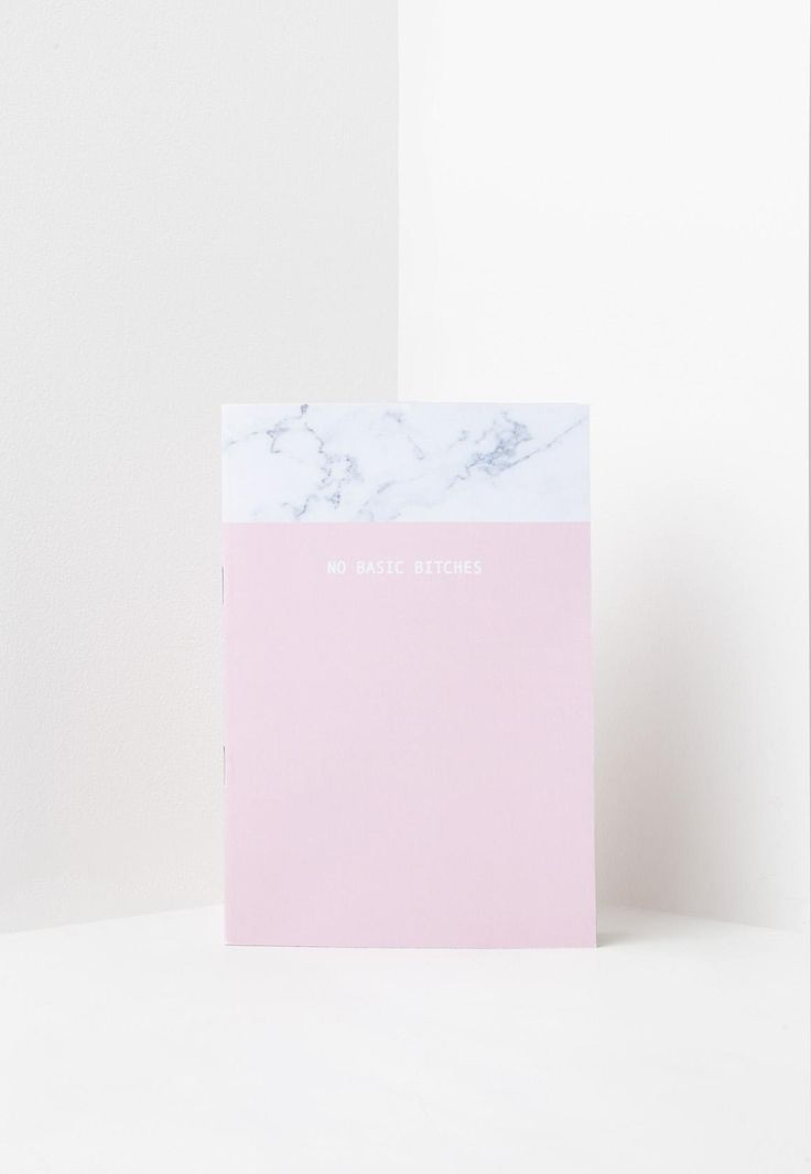 Missguided - Pink No Basic B*tches Notebook