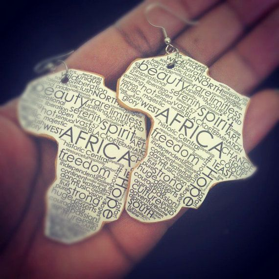 Africa Statement Earrings Natural Polymer Clay by UrbanTeaTree, $15.00