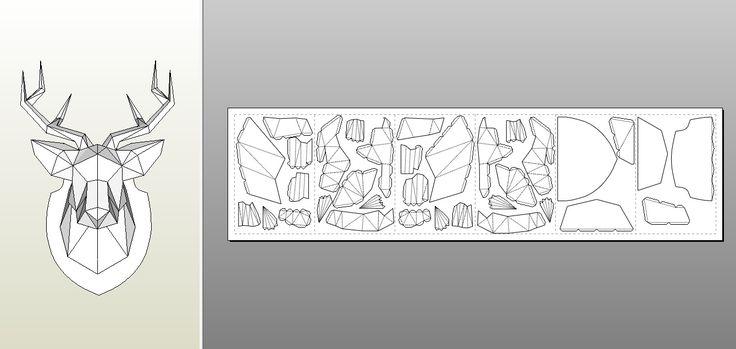 0_9fdd4_c998225d_orig.jpg (1339×635) // forum.pepakura.ru Pepakura.ru - Просмотр темы - Трофеи голова оленя из бумаги
