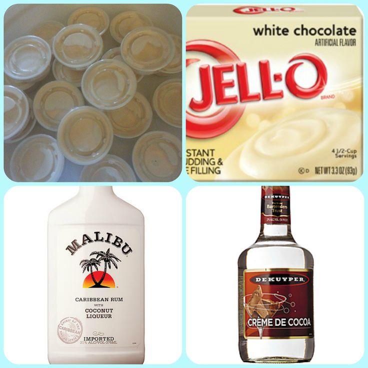 Malibu Coconut Snowflake Pudding Shots : Pudding Shots - FB