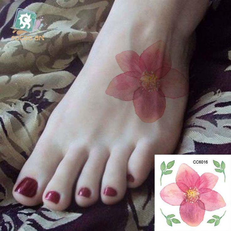 Mini Body Art wodoodporna tymczasowe tatuaże dla kobiet indywidualność kwiat projekt flash tatuaż naklejki Darmowa Wysyłka CC6016
