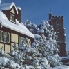 Snow on St. Margarets, Rainham, Kent
