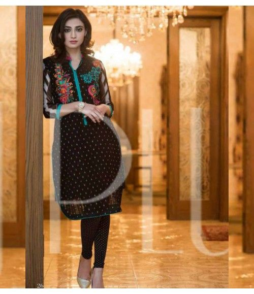 Plush Embroidered Kurti Collection 2015 Vol-1 by Riaz Arts EK-07