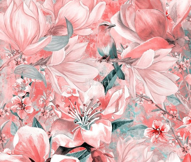 flowers and birds pattern #flowers #pattern