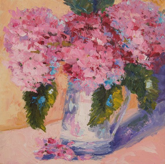 Impressionist flower oil painting Memories of by artbymarion