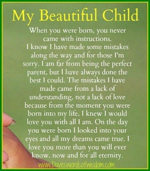 To My Three Beautiful Children