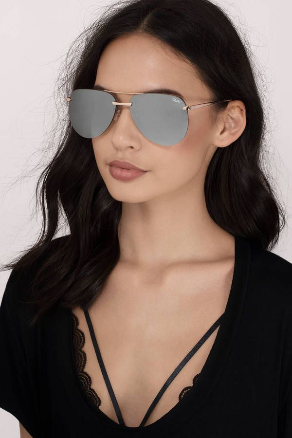 """Who isn't a fan of the """"QUAY The Playa Aviator Sunglasses"""" now on Tobi.com? Shop the latest in sunny weather accessories now! Searching for the perfect sunglasses for all face shapes? You've found it!"""