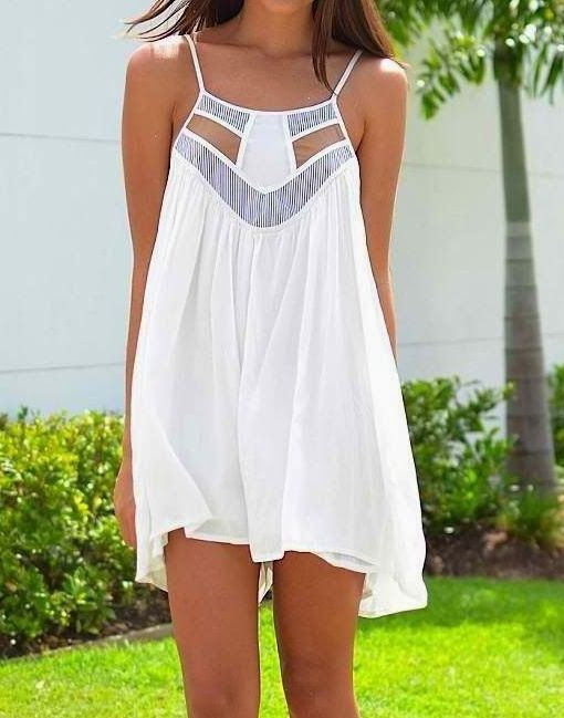 Summer Dresses 2015 Fashion White Open Dress Very Cosy and Light.