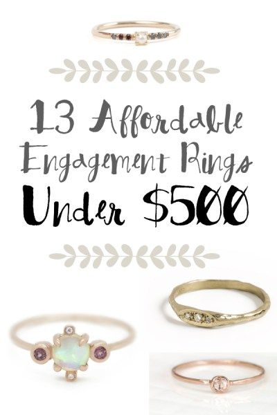 13 Engagement Rings Under $500